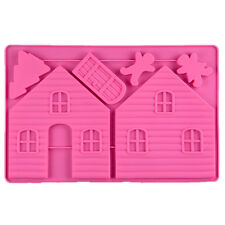 Christmas Gingerbread House Silicone Cake Mold Sugarcraft Pastry DIY Baking Tool