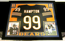DAN HAMPTON AUTHENTIC AUTOGRAPHED FRAMED AND MATTED CHICAGO BEARS JERSEY