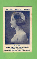 #D43.  1921 REXONA SOAP BEAUTY GIRLS CARD #26 - MISS  BESSIE  HOLFORD
