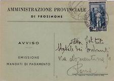 # FROSINONE: testatina- AMMINISTRAZIONE PROVINCIALE -FROSINONE