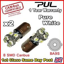 233 8 SMD CANBUS SUPER BRIGHT WHITE ERROR FREE SIDELIGHT BULBS LED T4W BA9S