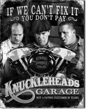 Three Stooges Tin Metal Sign Retro Black White Wall Art Vintage Garage Man Cave