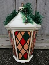 "Vintage Large 32"" Municipal Christmas Blow Mold Lantern Street Pole Light"