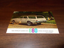 1963 Rambler Classic 660 Cross Country Wagon Vintage Advertising Postcard