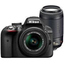 Nikon D3300 Digital SLR Camera With AFS 55-200 VRII lens 8-GB Card, Carry Bag