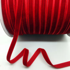 """New 5Yards 3/8"""" 10mm Red Velvet Ribbon Clips Crafts Sew Clips Bow Decoration"""
