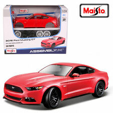 Maisto 1:24 2015 FORD MUSTANG GT Assembly DIY Racing Car Toy Diecast MODEL KITS