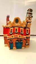 Disney Lighted Christmas House Toontown Fire Department, EUC, Retired, HTF