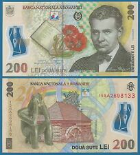 Romania 200 Lei P 122 2006 ( 2015 ) UNC Low Shipping! Combine FREE! Polymer note