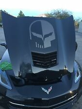 Chevy Jake Corvette Punisher Hood Vinyl Decal Sticker Overlay Graphic Black