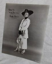 BETTE DAVIS VINTAGE 8X10 SIGNED PHOTO FROM DEATH ON THE NILE