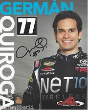 "SIGNED 2013 GERMAN QUIROGA ""NET10 WIRELESS"" #77 NASCAR TRUCK SERIES POSTCARD"