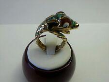 Enamel Colored Vintage Ladies Ring 14K Yellow Gold Snake Design