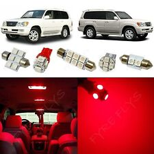 14x Red LED lights interior package kit for 1999-2007 Lexus LX470 LL1R