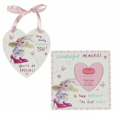Bebunni 15cm Wooden Photo Frame and Plaque Set, Wonderful Memories & Best Times