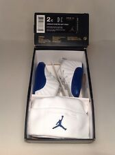 Nike Air Jordan Retro XII (12) FRENCH BLUE Boys Baby CRIB Shoes Size 2c BEANIE