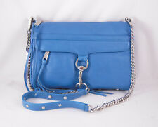Rebecca Minkoff Mac Clutch in CERULEAN with Silver Hardware NWT