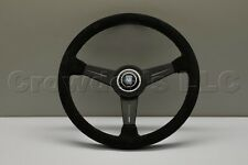 Nardi Classic Steering Wheel - 360mm - Black Suede Leather with Black Spokes