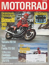 Motorrad 2 79 Benelli Sei Fantic TX150 Yamaha RD50M Honda CB650 Zündapp 125 1979