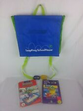 Leapfrog School House Leappad Backpack carrying storage case bag 2 books 2 games