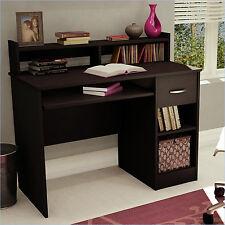 Wood Computer Desk Home Workstation Office Furniture Drawer Shelf Laptop Table