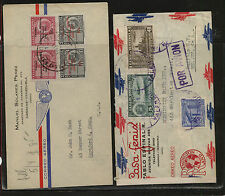 Venezuela   2  interesting  airmail covers to US , one censor       KL0831