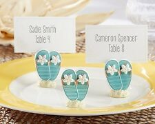 18 Oceanfront Beach Theme Flip Flop Photo Place Card Holders Wedding Favors