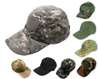 Airsoft Tactical Baseball Cap Hat w/ Loop Attachment Base 8 Colors ACU/BK/OD A