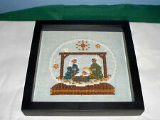 BENT CREEK SNOWGLOBE NATIVITY COMPLETED CROSS STITCH PICTURE CHRISTMAS