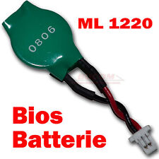 BIOS batería Asus Eee PC 1101hab 1005p CMOS Battery Maxell ml1220 3v con cable