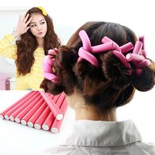UQE 10 pieces Hair Curling Flexi rods Magic Air Hair Roller Curler Bendy wakalak
