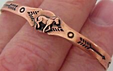Copper Cuff Bracelet Wheeler Arthritic Healing Power Small Horse Folklore CB 025