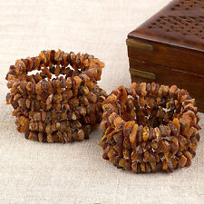 Natural Baltic Amber Raw Unpolished Beads Bracelets - Mixed Color - Lot 10