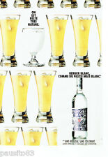 PUBLICITE ADVERTISING 1016  1990  le pastis Berger Blanc