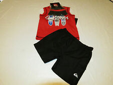 Quiksilver Boy's baby youth Tank top swim shorts hat 3 pc set 12 M 4057025-99