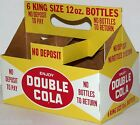 Vintage soda pop bottle carton DOUBLE COLA King Size 12oz new old stock n-mint+