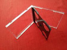 10 double cd Maxi jewel case 10.4mm colonne vertébrale standard pour 2 cd avec noir plateau neuf