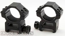 Quick Release 30mm Medium Profile Rifle Scope Mounts to fit 20mm Weaver Rails