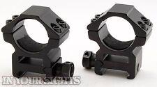 Quick Release 30mm Medium Profile Rifle Scope Mounts to fit 20mm Weaver Rails