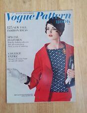 Vintage Vogue Pattern Book August - September 1961