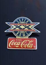 Super Bowl XX Logo Coca-Cola Pin Bears Vs Patriots