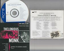 THELONIOUS MONK- Genius of Modern Music, Vol.1 CD (RVG Edition Blue Note) 1947