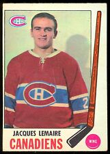 1969 70 OPC O PEE CHEE HOCKEY #8 JACQUES LEMAIRE EX+ MONTREAL CANADIENS CARD
