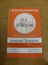 13/03/1971 Lincoln City v Oldham Athletic  . Item appears to be in good conditio