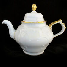 """SANSSOUCI GOLD Tea Pot 7.5"""" tall  Rosenthal NEW NEVER USED 5 CUP 4OOZ Germany"""