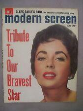 MODERN SCREEN MAGAZINE MAY 1961 TRIBUTE TO BRAVEST STAR CLARK GABLE