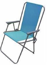 BLUE Pieghevole Sedia Giardino Patio Deck BARBECUE PICNIC PIEGHEVOLE SEDILE RELAX all' aperto