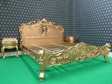 UK STOCK Gold Dust 5' King Size French Baroque Louis style .. Quality Rococo Bed
