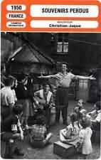 FICHE CINEMA : SOUVENIRS PERDUS - Blier,Brasseur,Montand 1950 Lost Souvenirs