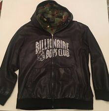 BBC Billionaire Boys Club Leather Hoodie Rare Collectors Item